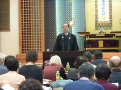 3月2日 第2組同朋大会 上場顕雄師が講演